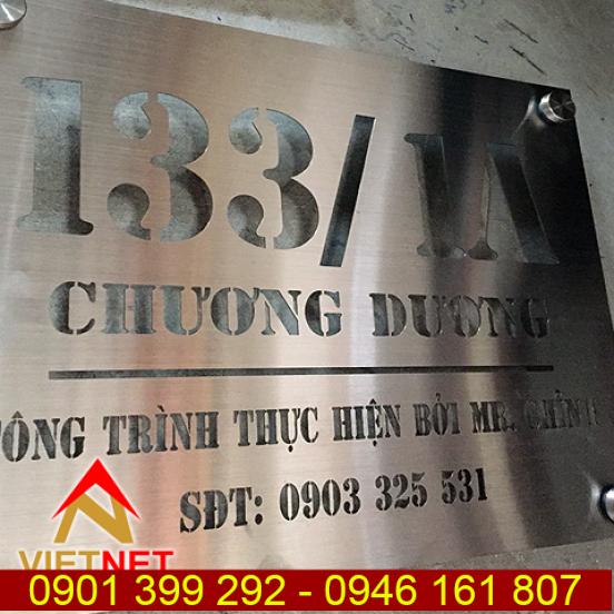 Cắt laser kim loại bảng số nhà 133/1A Chương Dương