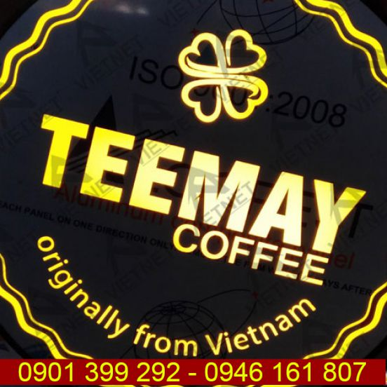 Biển vẫy quảng cáo hộp đèn tiệm Cafe TeeMay
