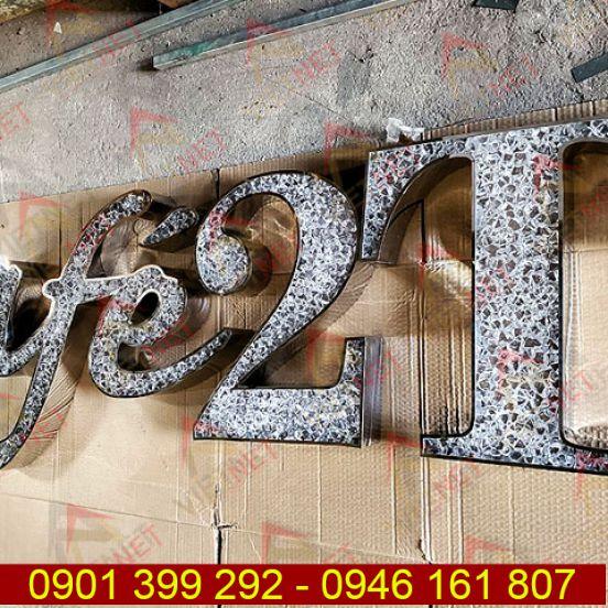 Chữ nổi mặt Acrylic Cafe 2T