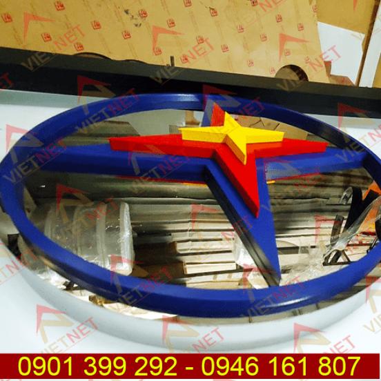 Chữ inox sơn hấp nhiệt và logo Điện Lực EVN SPC Hòa Bình