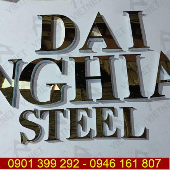 Chữ inox vàng gương Đại Nghĩa Steel