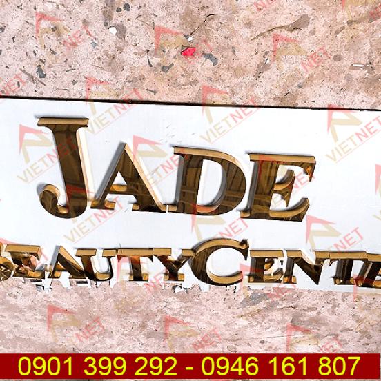 Chữ inox vàng gương Thẩm Mỹ Viện Jade Beauty Center