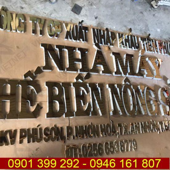 Chữ inox vàng gương Nhà Máy Chế Biến Nông Sản