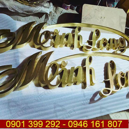 Chữ inox vàng xước Minh Long 1