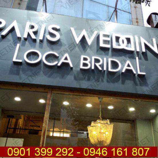 Bảng hiệu quảng cáo tiệm cáo cưới Studio Paris Wedding