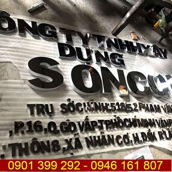 Chữ inox trắng gương Công ty TNHH Xây Dựng Soncons