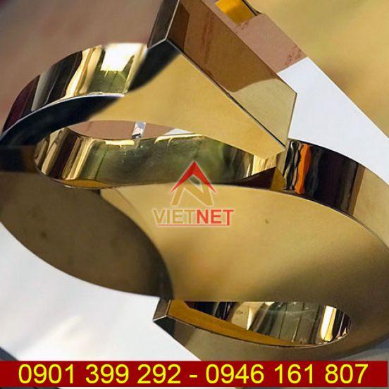 Gia công chữ inox vàng gương