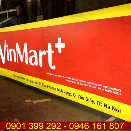 Hộp đèn bạt Hiflex cửa hàng tiện lợi VinMart
