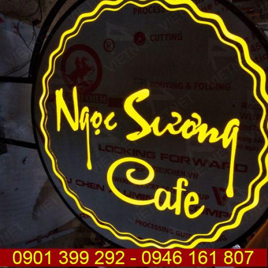 Biển vẫy quảng cáo hộp đèn tiệm Cafe Ngọc Sương Tây Ninh