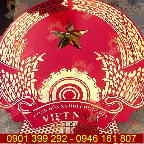 Logo inox ăn mòn Quốc Huy Nước CHXHCN Việt Nam
