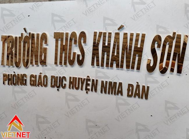 chu-inox-vang-guong-Truong-THCS-Khanh-Son-2